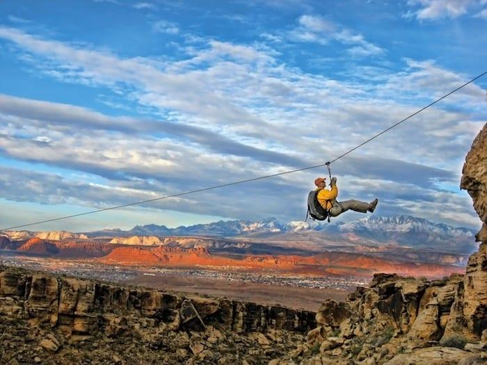 Ziplining in St George Utah