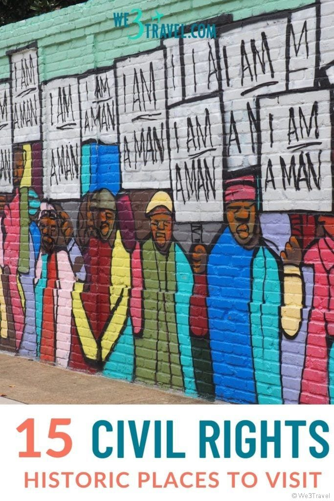 15 Civil Rights historical places to visit I am a man mural in Memphis