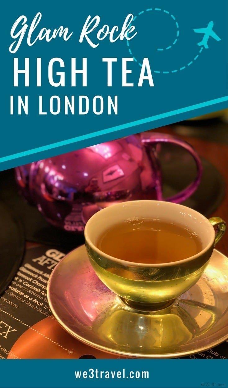 Themed high afternoon tea in London - Glam Rock Tea at the K West Hotel #london #tea #afternoontea #familytravel