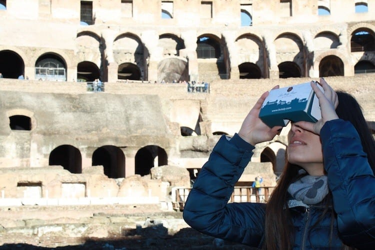 LivItaly Virtual reality Colosseum tour of Rome with kids