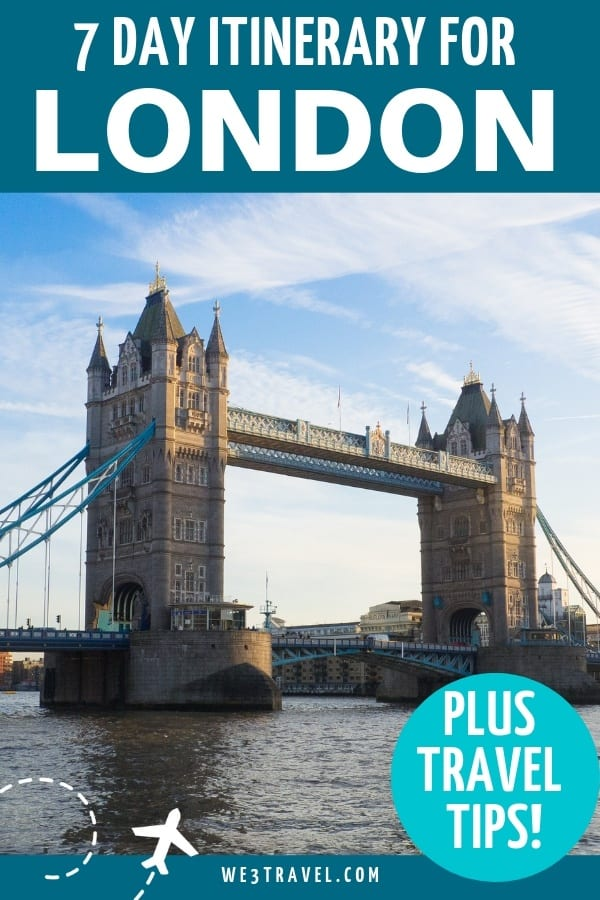 Planning London travel? Use this 7 day London itinerary to figure out where to stay, where to eat, and things to do in the city. #london