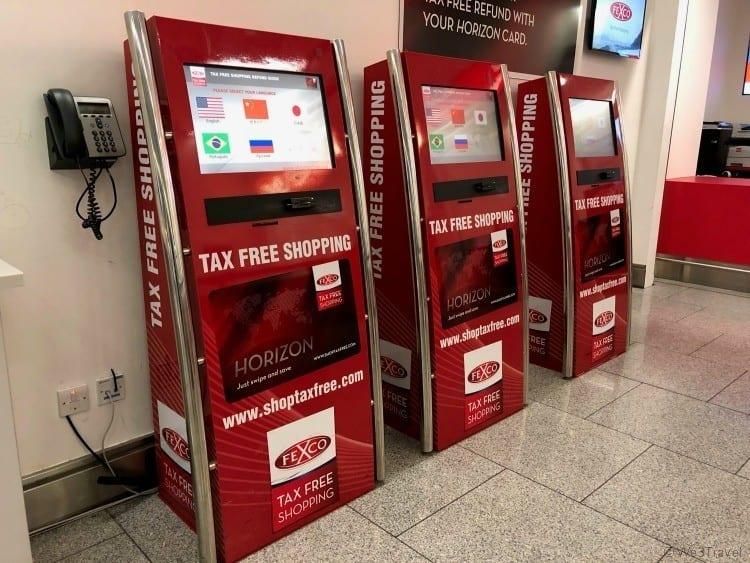 Dublin airport tax free shopping kiosks