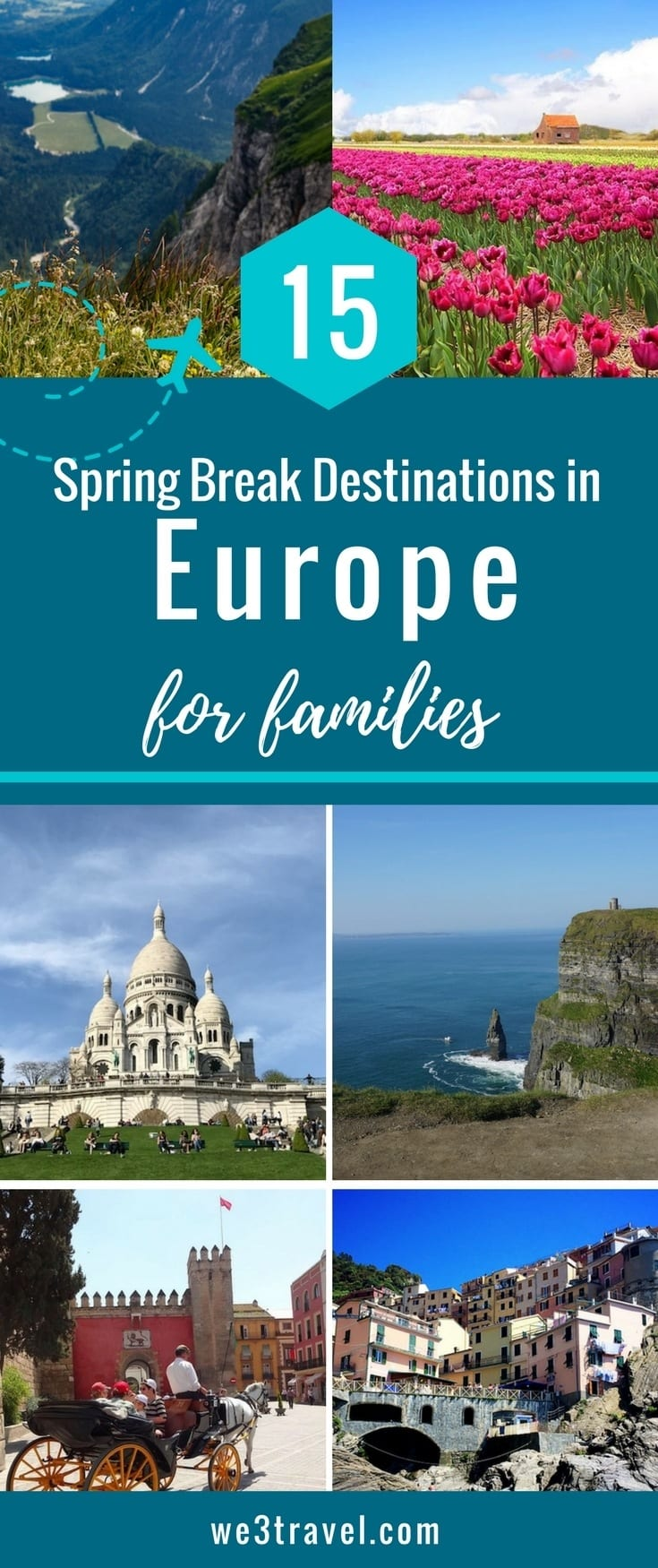 European vacation ideas for spring break destinations for families.