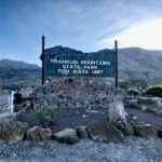 Franklin Mountain state park sign