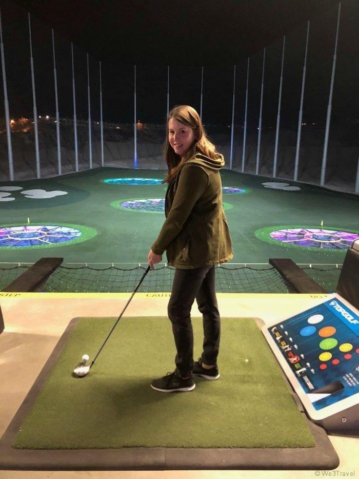 Tamara playing Topgolf