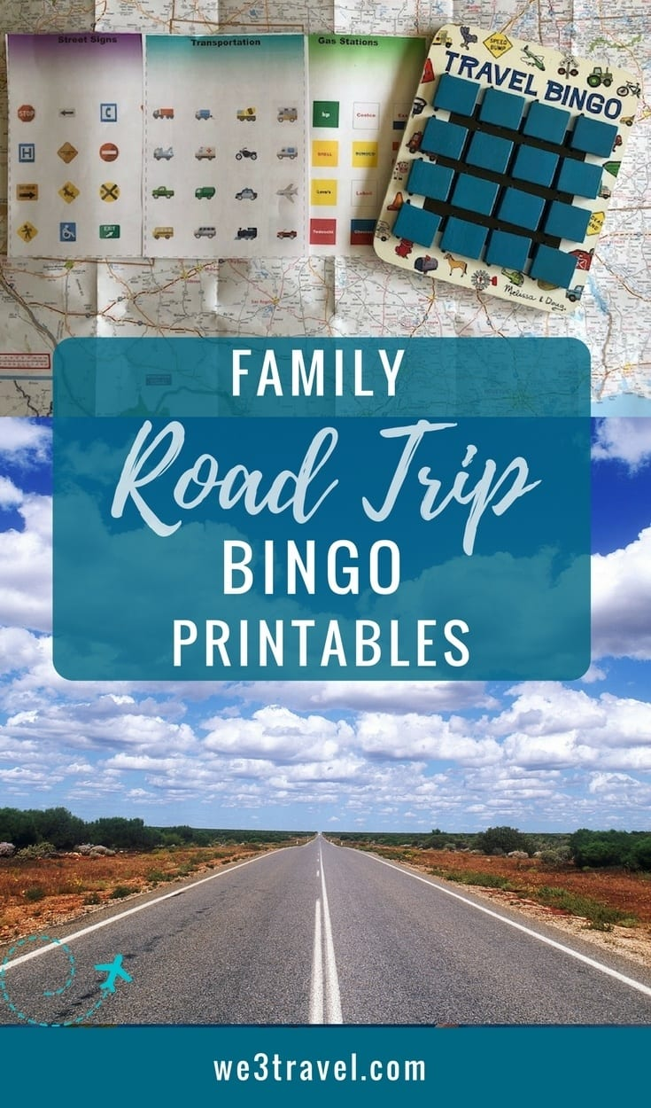 Use these road trip bingo printables to fight boredom on your next family road trip! There are sheets for: car brands, vehicles, signs, restaurants, and gas stations. Can be used as a stand alone or fit into Melissa and Doug game boards. #roadtrip #printables #bingo