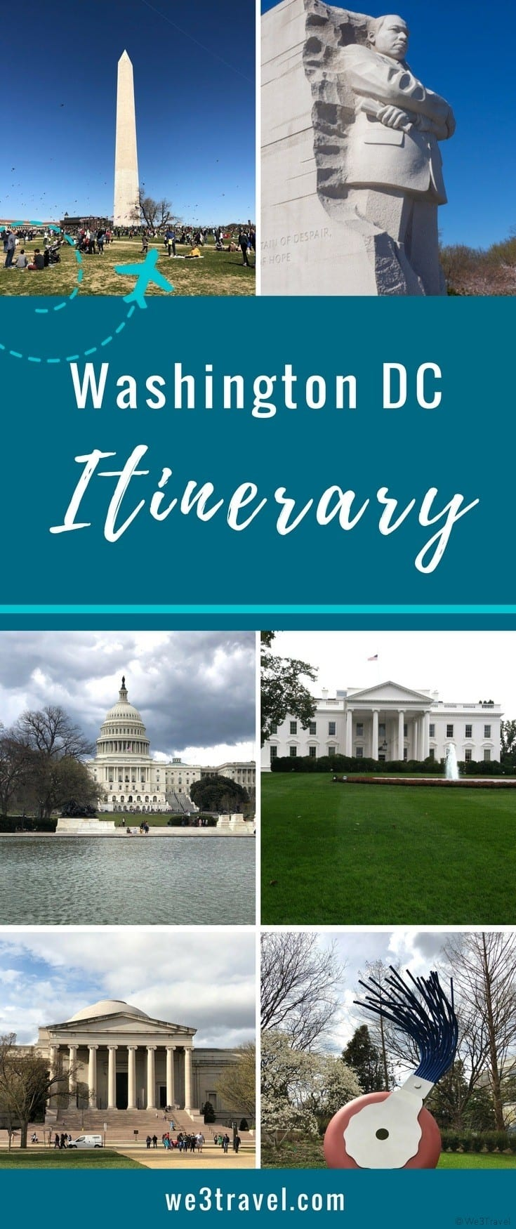 Washington DC itinerary for visiting museums and monuments with kids. Check out this sample 3 day itinerary and tips for visiting Washington DC. #washingtondc #dcwithkids #itinerary #familytravel
