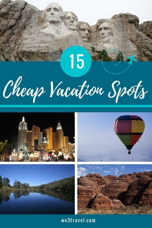 15 Cheap vacation spots in North America. Perfect for budget travelers and traveling families! #budgettravel #summervacation #familytravel #vacationideas