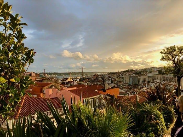 sunset at Park Bar Lisbon