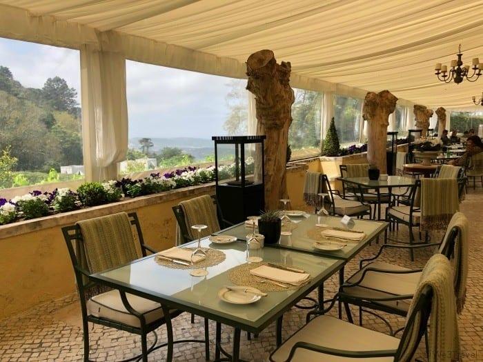 Setais Restaurant terrace in SIntra Portugal
