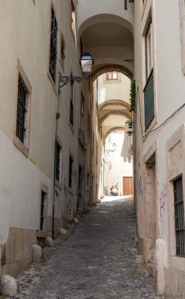 Alfama alleyway in Lisbon