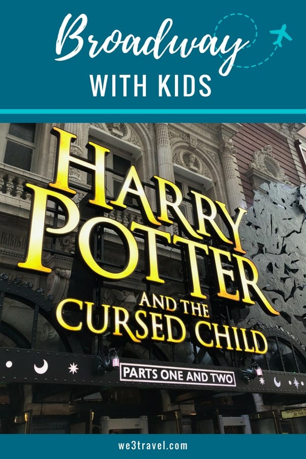 Tips for attending a Broadway show with kids and the scoop on the new Harry Potter and the Cursed Child play in NYC. #broadway #harrypotter #nyc #newyork #theater