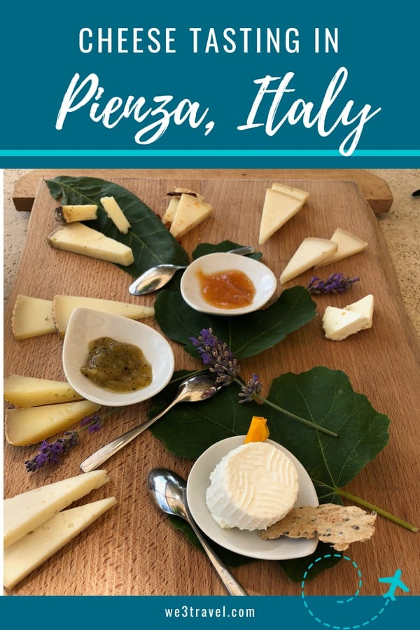 Where to go for lunch and a cheese tasting near Pienza and Montepulciano in Southern Tuscany #pienza #tuscany #cheese #pecorino #italy