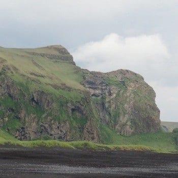 Green cliffs of Vik Iceland