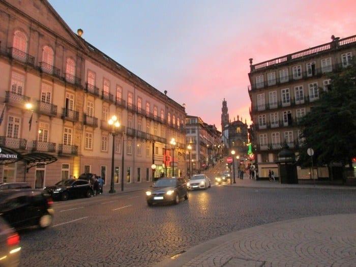 Porto Portugal at sunset