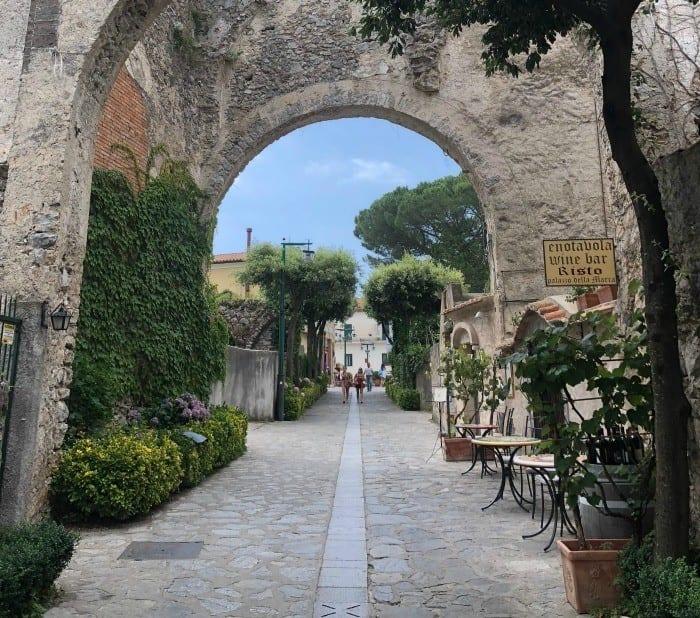 Ravello town arch