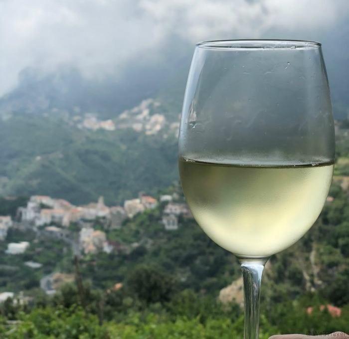Villa Michelle wine and view