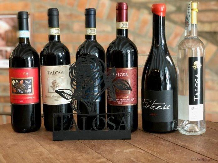 Talosa wine bottles