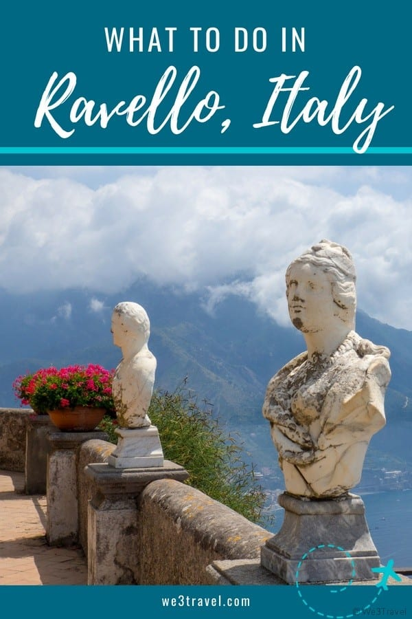 What to do in Ravello Italy - besides enjoying one of the most beautiful views in the world! #ravello #amalficoast #italy #travel #europe