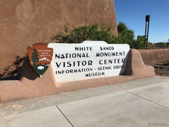 White Sands National Monument sign