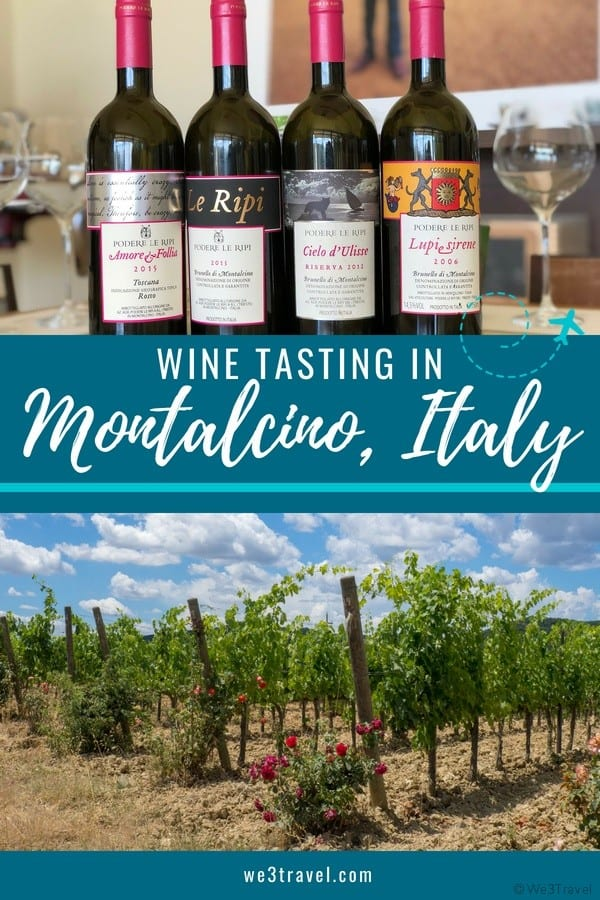 Where to go wine tasting in Montalcino, Italy in Southern Tuscany #tuscany #italy #wine #europe #foodtravel