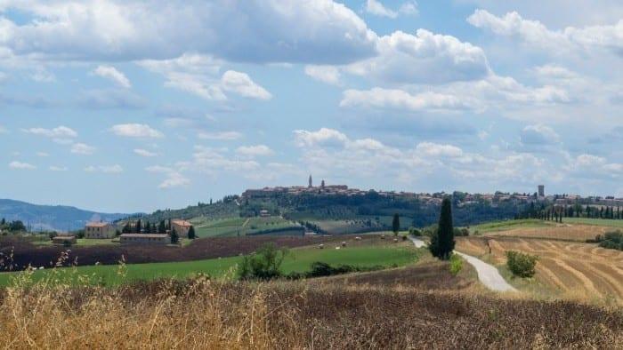 Pienza on hill