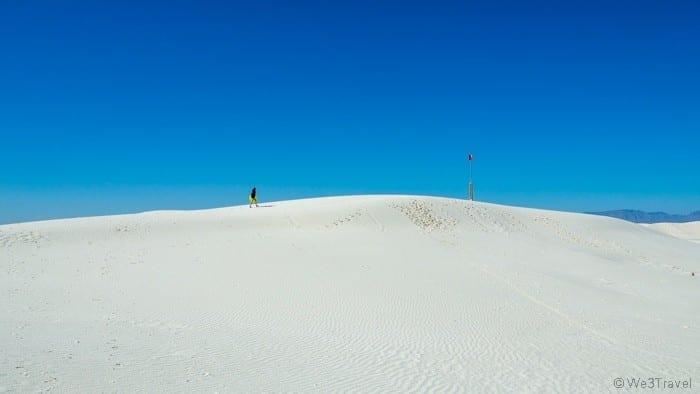 Walking on White Sand dunes