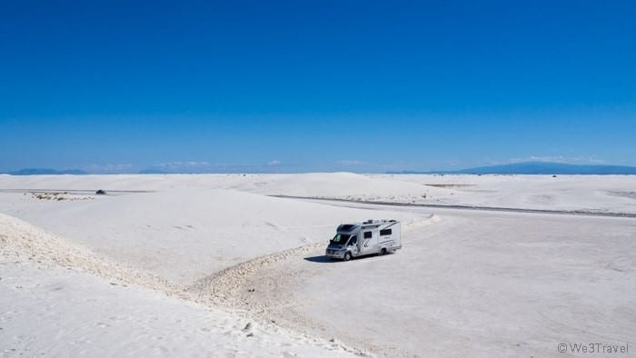 RV in White Sands National Monument