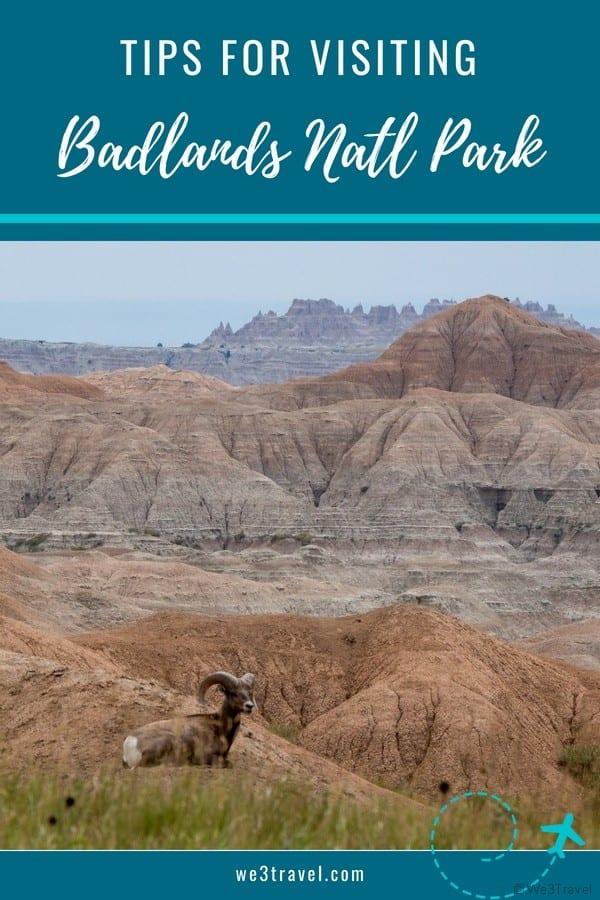 Tips for visiting Badlands National Park and nearby lodging options #nationalparks #badlands #southdakota #USA