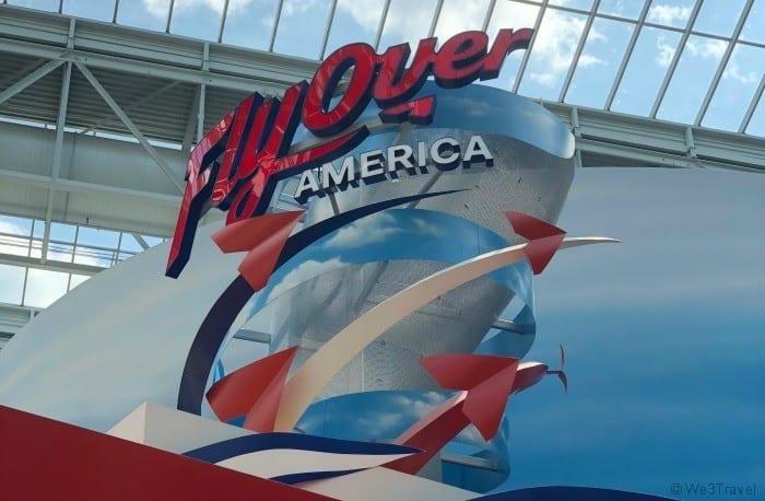 FlyOver America sign