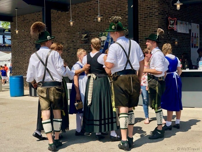 Germanfest people dressed up