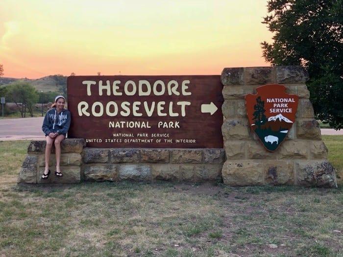 Theodore Roosevelt National Park entrance sign