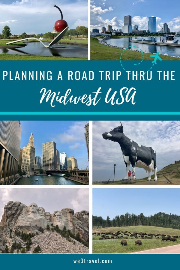 Midwest road trip itinerary for spending two weeks exploring the midwest and Central States including Chicago, Milwaukee, Minneapolis, North Dakota, South Dakota, Omaha, and Iowa. #midwest #roadtrip #USAtravel #familytravel