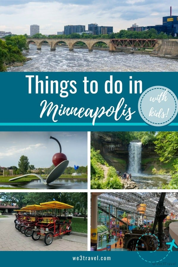 Things to do in Minneapolis with kids in the summer including the Sculpture Gardens, Stone Arch Bridge, Minnehaha Falls, Mall of America and more. #minneapolis #msp #minnesota #midwest #usa #travel #familytravel