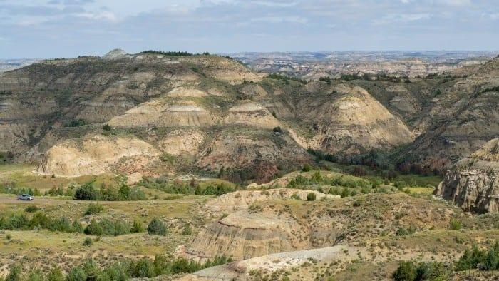 Badlands hills