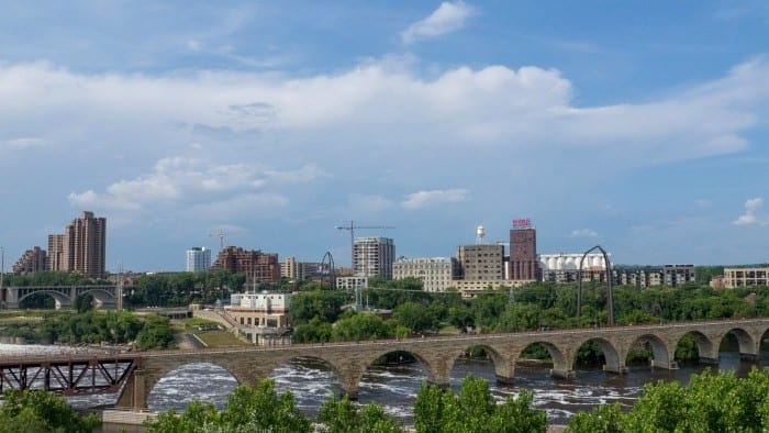 Stone Arch Bridge from theater
