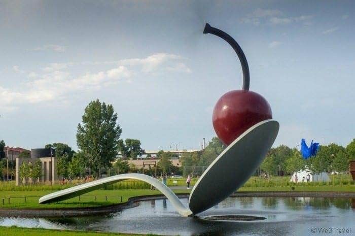 Walker Sculpture Gardens Spoon and Cherry