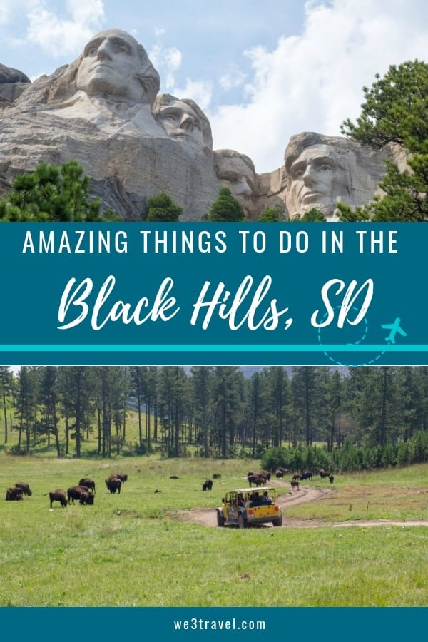 Fun things to do in the Black Hills of South Dakota (and the Badlands.) We lay out a day-by-day Black Hills itinerary including Devil's Tower, Historic Deadwood, Mount Rushmore, Crazy Horse, Custer State Park, Badlands National Park, and more. #southdakota #blackhills #badlands #mountrushmore #crazyhorse #USAtravel #familytravel