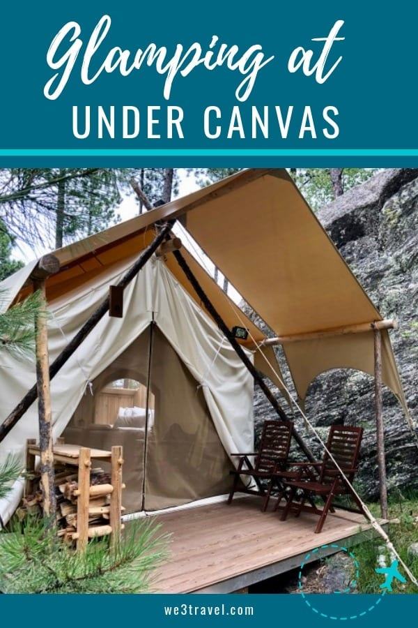 Glamping at Under Canvas Mount Rushmore. Get the full scoop on the tents, the food, the location, and more! If you are interested in camping but don't want to rough it, luxury camping is the way to go! #familytravel #camping #glamping #mountrushmore #undercanvas #southdakota #blackhills #luxurytravel