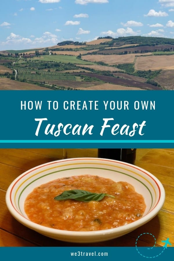 How to create a Tuscan food and wine feast at home with Tuscan recipes and wine pairing suggestions. #italianfood #italianwine #tuscanfood #tuscandishes #tuscanrecipes #italianrecipes #sponsored