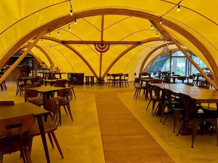 Under Canvas dining room
