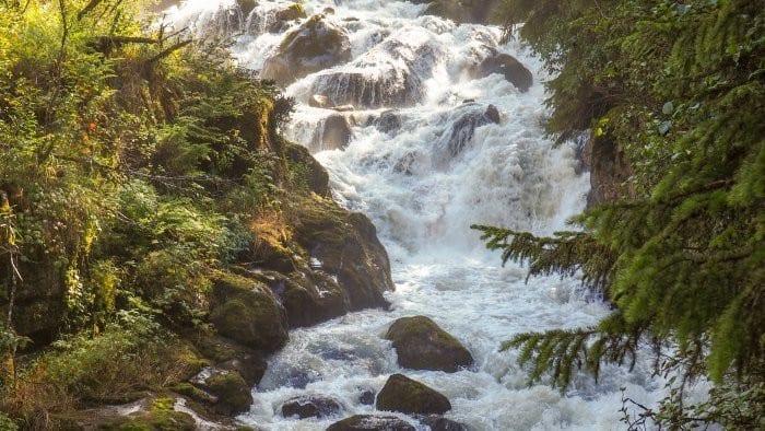 Denver valley waterfall