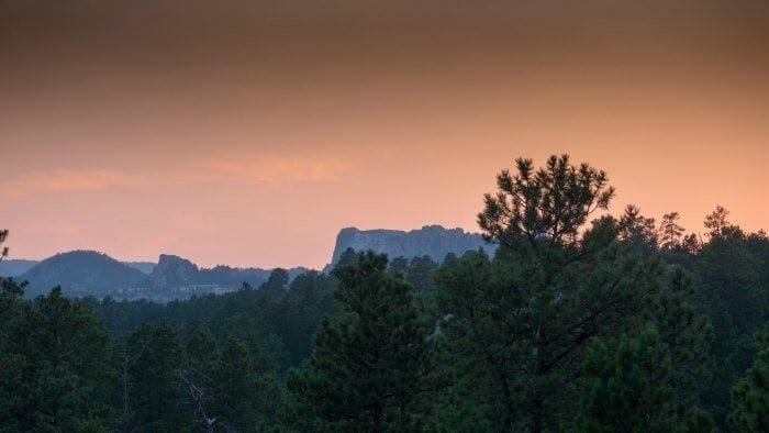 Mount Rushmore sunset