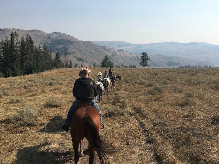 trail ride at Nine Quarter Circle ranch