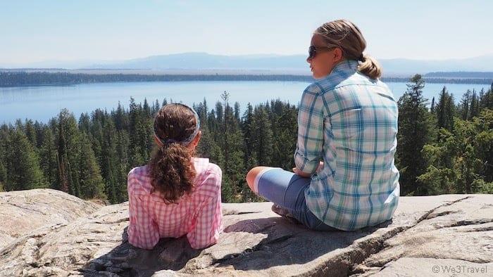Girls in Grand Tetons national park