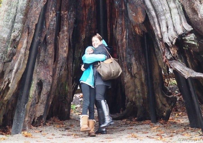 Tamara and Hannah hugging in Vancouver