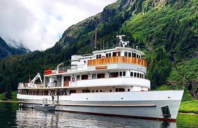 Small ship cruising in Alaska