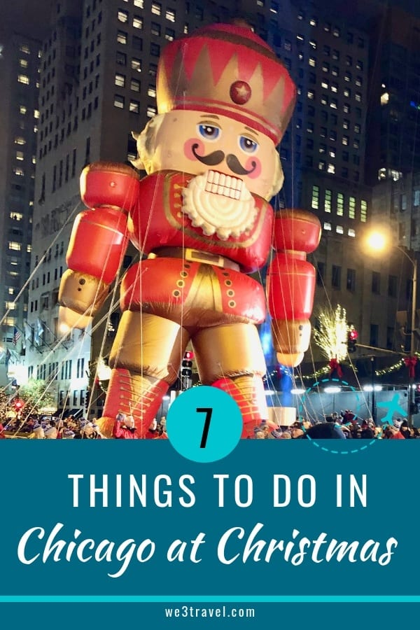 Festive things to do in Chicago at Christmas from ice skating, parades, tree lightings, shows, and more. #chicago #christmas