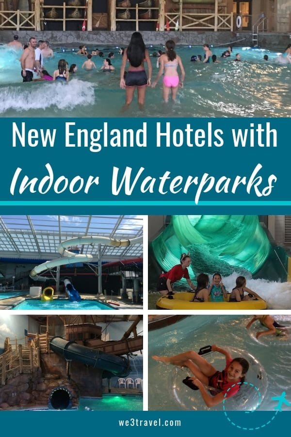 Best hotels with indoor water parks in New England including Massachusetts, New Hampshire, and Vermont (with some extra bonus hotels in the Northeast!) #waterparks #familytravel #newengland