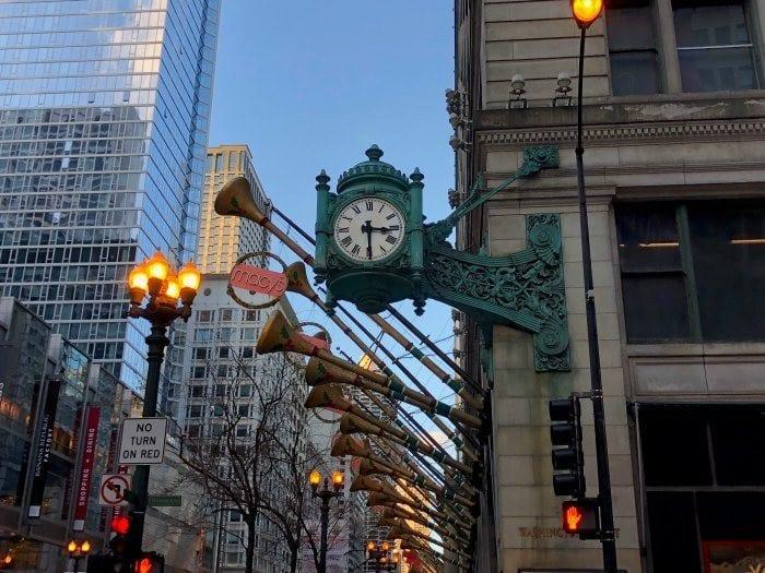 Macys clock in Chicago